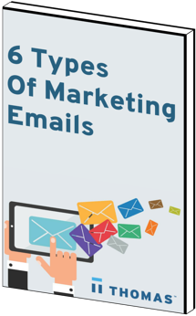 6 Types Of Marketing Emails eBook Cover