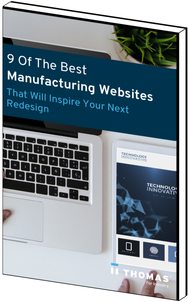 9 Of The Best Manufacturing Websites That Will Inspire Your Next Redesign eBook Cover
