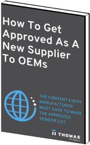 How to Get Approved As A New Supplier To OEMs eBook Cover