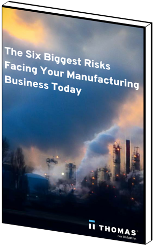 The Six Biggest Risks Facing Your Manufacturing Business Today eBook cover