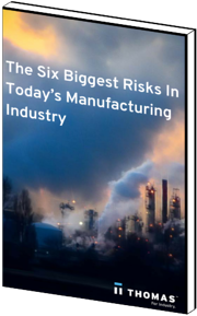 The Six Biggest Risks In Today's Manufacturing Industry eBook cover
