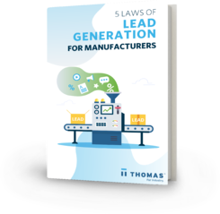 5 Laws Of Lead Generation For Manufacturers eBook Cover