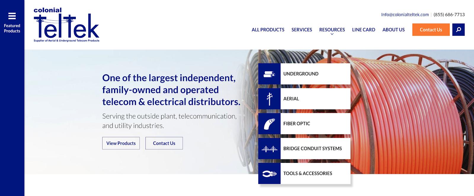 Colonial TelTek Homepage