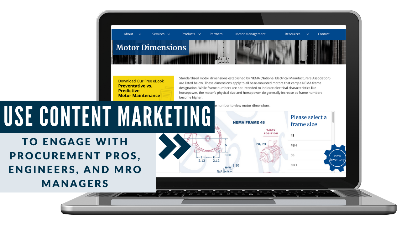 Content marketing manufacturing example to reach engineers