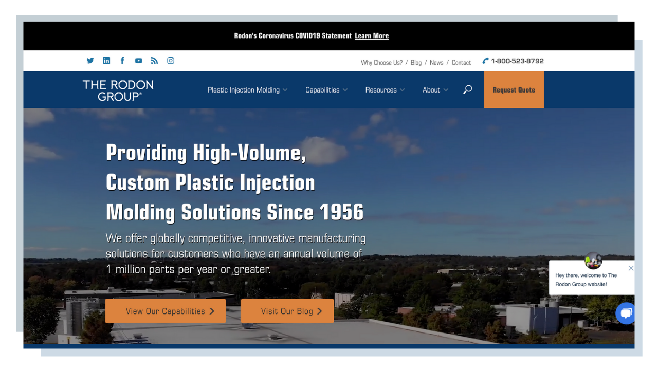 Rodon Group Homepage - HubSpot For Manufacturers