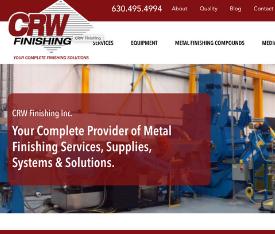manufacturing website design example - industrial service website design