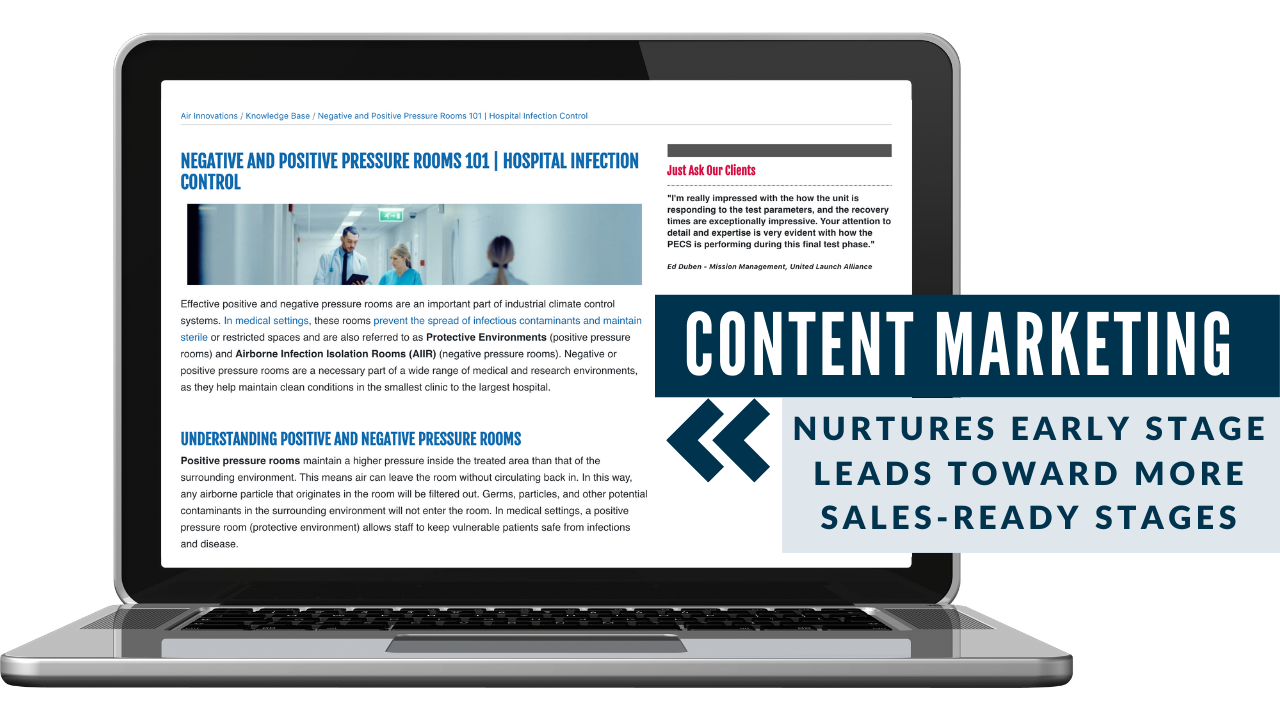 content marketing air innovations manufacturing example