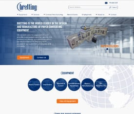 Bretting Manufacturing - Website design for OEMS