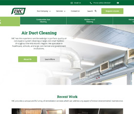 IMC Inc. - Website design for manufacturing service companies