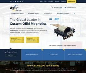 agile magnetics - Website design for OEMS