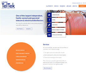 Colonial TelTek - Website design for industrial distributors
