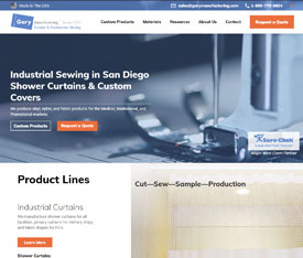 Gary Manufacturing - Website design for custom manufacturers