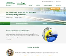 Lowcountry Environmental Services - Website design for manufacturing service companies