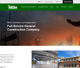 MGM General Construction Corporation. - Website design for manufacturing service companies