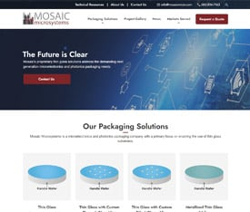 Mosaic Microsystems - Website design for OEMS