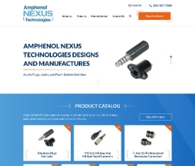 Amphenol NEXUS Technologies - Website design for OEMS