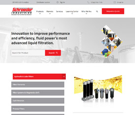 Schroeder Industries - Website design for industrial distributors
