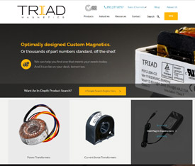 Triad Magnetics - Website design for OEMS
