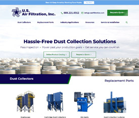 U.S. Air Filtration, Inc. - Website design for industrial distributors