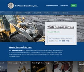 U.S. Waste Industries - Website design for manufacturing service companies