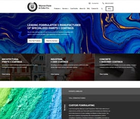 Warren Paint & Color Co. - Website design for custom manufacturers